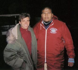 Matthew wearing a big coat. :)