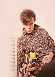 Matt Smith on a photoshoot