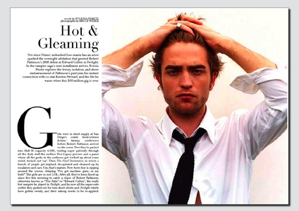 here's my gorgeous Robert in a magazine article<3