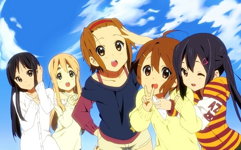 K On Ritsu on! HTT!! it would be a dream come true~ x3(from left to right - mio ...