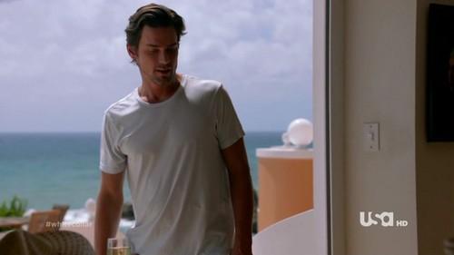 Matt in white ... sigh.... thud... crash.. ouch...