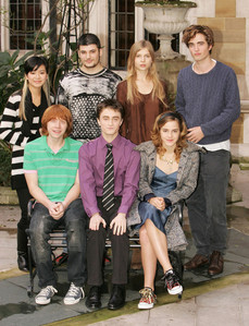 my handsome baby with some of his Harry Potter/Goblet of آگ کے, آگ cast members<3