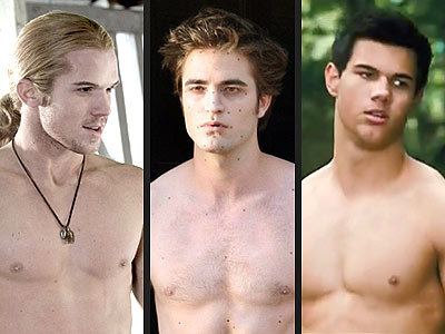here is some delicious,sexy shirtlesss eye doces for you ladies:Cam Gigandet,my gorgeous Robert,and Taylor Lautner all shirtless.Enjoy!!!<3<3