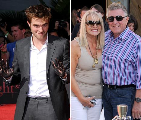 here's my gorgeous Robert with his mom,Clare and dad,Richard.They are not in the same picture together,but it is the closest I could find.They look so proud of their son<3