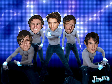 LOL...my baby with a few other actors doing a funny dance move<3