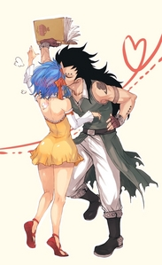 Levy and Gajeel from Fairy Tail.