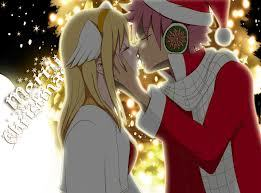 lets get some nalu up in here cx . natsu and lucy . even though its not navidad . xc