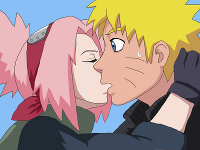 Sakura kissed Наруто