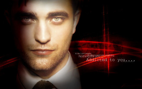my yummy Robert with a light on his gorgeous face<3