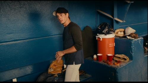 Matthew holding a baseball glove. :)