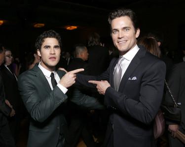 Matt Bomer pointing at Darren Criss :)