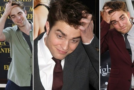 my beautiful,handsome Robert runs his hand through his hair a lot like in the picture below<3