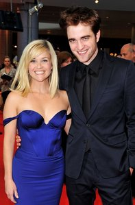 """my gorgeous and tall Robert,who is 6'1"""",with his Water for Elephants co-star,Reese Witherspoon,who is 5'1 and a half<3"""