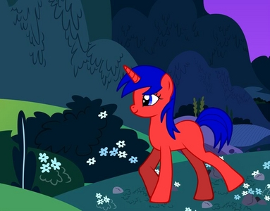 Sapphire Harmony Unicorn Short tail, long mane, straight A coralish orange? Blue Cutie Mark (not pictured) 3 sapphires with a boom mic in the middle entertainer, traveling from town to town to perform (locally) Write musik