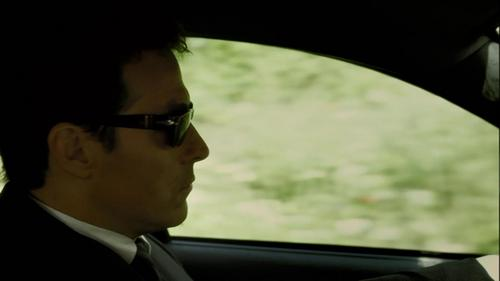 The Sunglasses he wears when he drives. ;-)