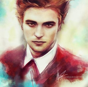 here is a beautiful art painting of my gorgeous Robert that I found on Google.Whoever painted this is an amazing artist<3
