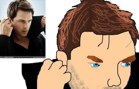 John Barrowman picture i made on Paint. I messed up the hand though..