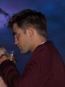my handsome Robert with a glass in his gorgeous hand<3