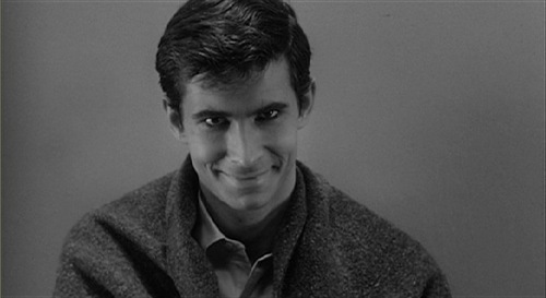 the original psycho,Anthony Perkins,as Norman Bates in Alfred Hitchcock's Psycho