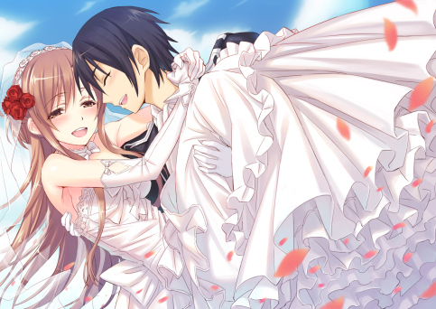 Asuna from SAO They are getting married X))