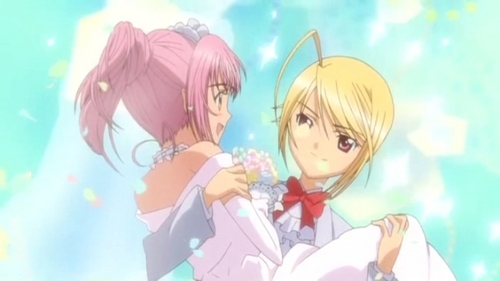 Amu and Tadase from Shugo Chara.