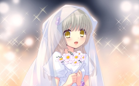 Here's Yukishiro Suzuno in a wedding dress! :)