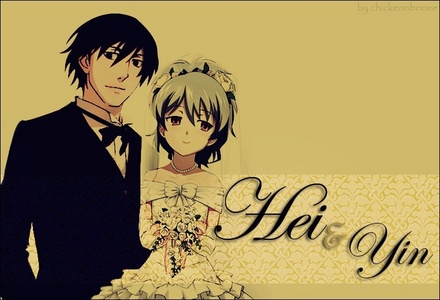 Sorry that it's a couple picture but here's Yin from Darker Than BLACK in a wedding dress.