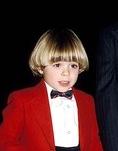 Little Matti wearing red. :)