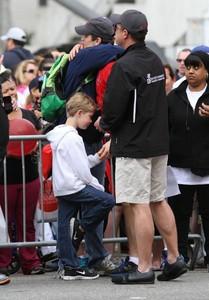 Matt Bomer being hugged door his partner Simon :)
