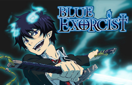 """ao no exorcist is quite good ;D  The story revolves around Rin Okumura, a teenager possessing abnormal strength and endurance who, along with his twin brother Yukio, was raised by Father Shiro Fujimoto. One day, Rin learns that he is the son of Satan, the strongest of all demons. Witnessing Shiro dying to protect him, Rin ends up doing what his guardian asked him never to do: draw the demon-slaying blade Kurikara, which restrains his demonic powers, from its scabbard. From that moment on, Rin not only gains permanent demonic features like fangs, pointed ears, fiery """"horns"""" and a tail, but also the power to ignite himself into blue flames that can destroy almost anything they touch.  ao no exorcist, blue exorcist all the same T_T"""