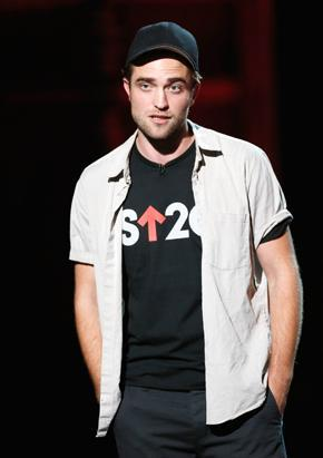 my handsome Robert taking part in the Stand Up To Cancer telethon<3
