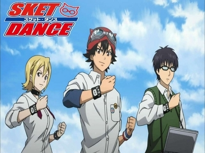 i would recommend sket dance 1 and 2