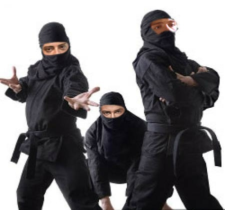 Matthew and his brothers dressed as ninjas. :)