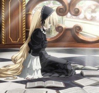 i recently watched Gosick, in my opinion probably Victorique. She is so cute, she looks like a doll, and i LOVE her style of clothing with all that lace and frills