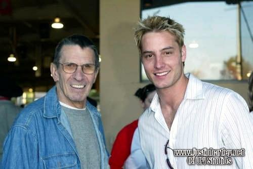 "Justin with Leonard Nimoy, ""Mr. Spock"" from ""Star Trek - The Original Series"" <3333"