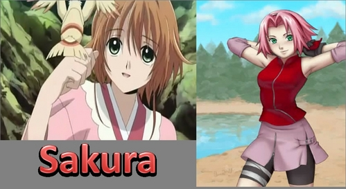 Sakura (left) from Tsubasa Chronicles, Sakura (right) from Naruto. You can find many other girls named Sakura too.