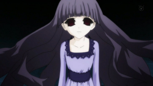 Sunako from Shiki. I would want her to stalk me because, for a vampire, she is adorable and I need friends.