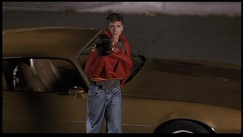 Matthew wearing red on his jacket. :)