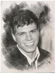 Matthew as a drawing in grey. :)