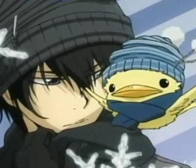 Kyoya and Hibird from Katekyo Hitman Reborn.