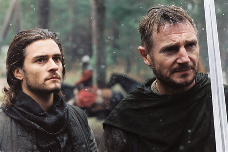 Orlando Bloom, with Liam Neeson, in Kingdom of Heaven which is based in the Crusades :)