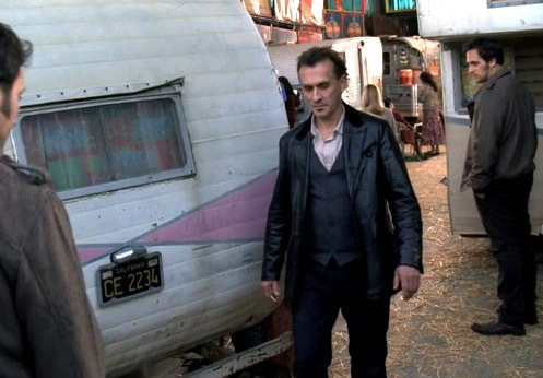 Robbie with some caravans
