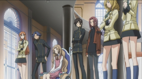 Most of the students from Code Geass exept Lelouch, Kallen and Nunally