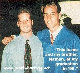 my cutie with his older brother Nathan at his graduation in 1995 <33333
