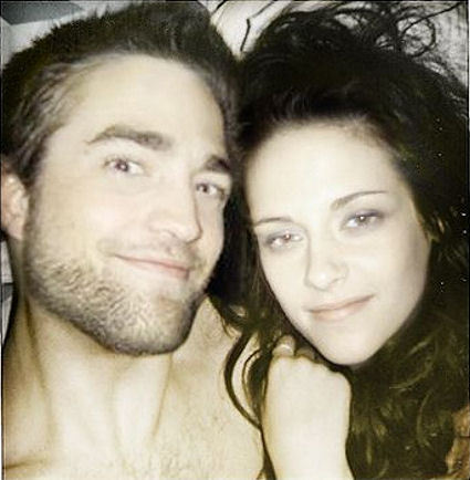 here is a selfie of my handsome Robert and the beautiful Kristen Stewart together.Even without makeup,I still think they both look beautiful<3