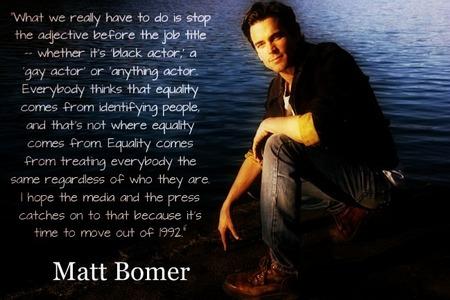 Matt Bomer speaks wisely :)