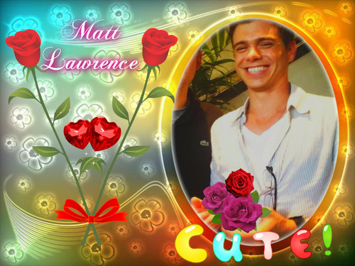 My lover, Matthew with flowers. <33333