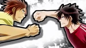 Oga Tatsumi and Toujou Hidetora from Beelzebub fighting