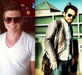 Matthew and Rider Strong wearing sunglasses. :)