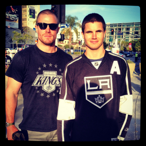 Stephen Amell and Robbie Amell :)